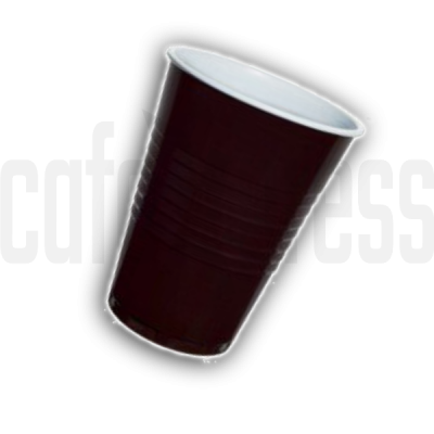 9oz Brown  White Plastic Vending Cups x 2000 (73mm Rim)