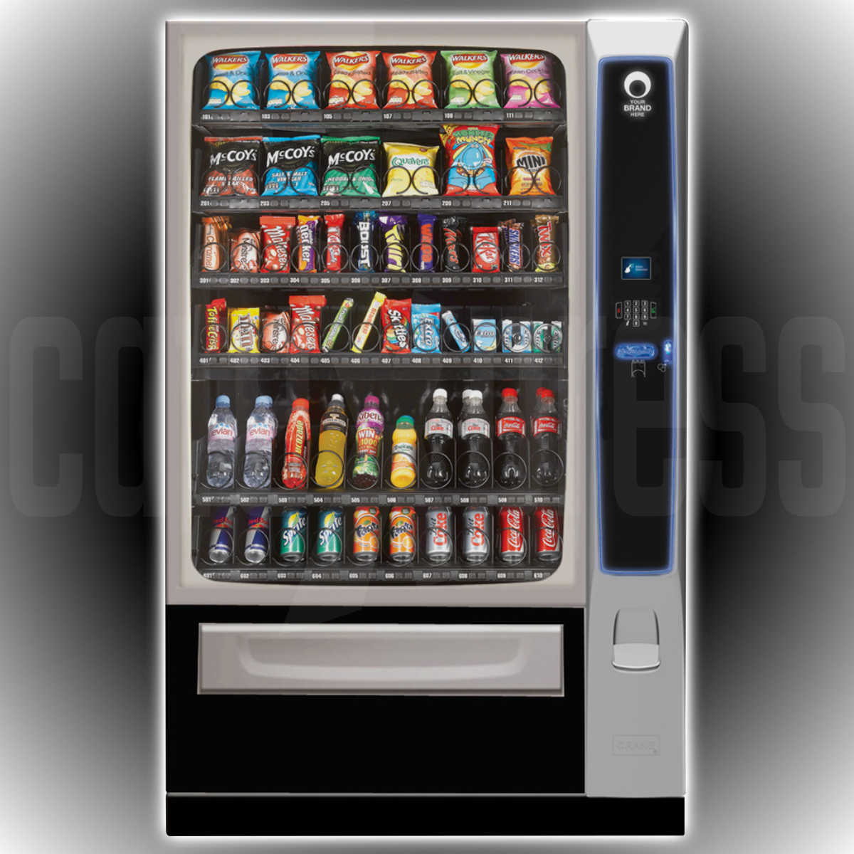 CRANE Merchant Media 6 Keypad Vending Machines