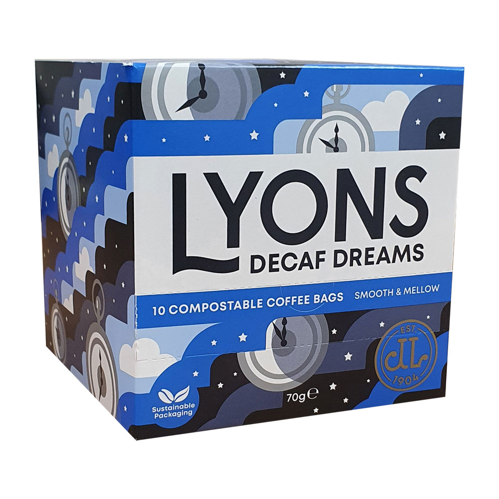 Lyons Decaf Dreams Coffee Break Bags 70g (4 Units)