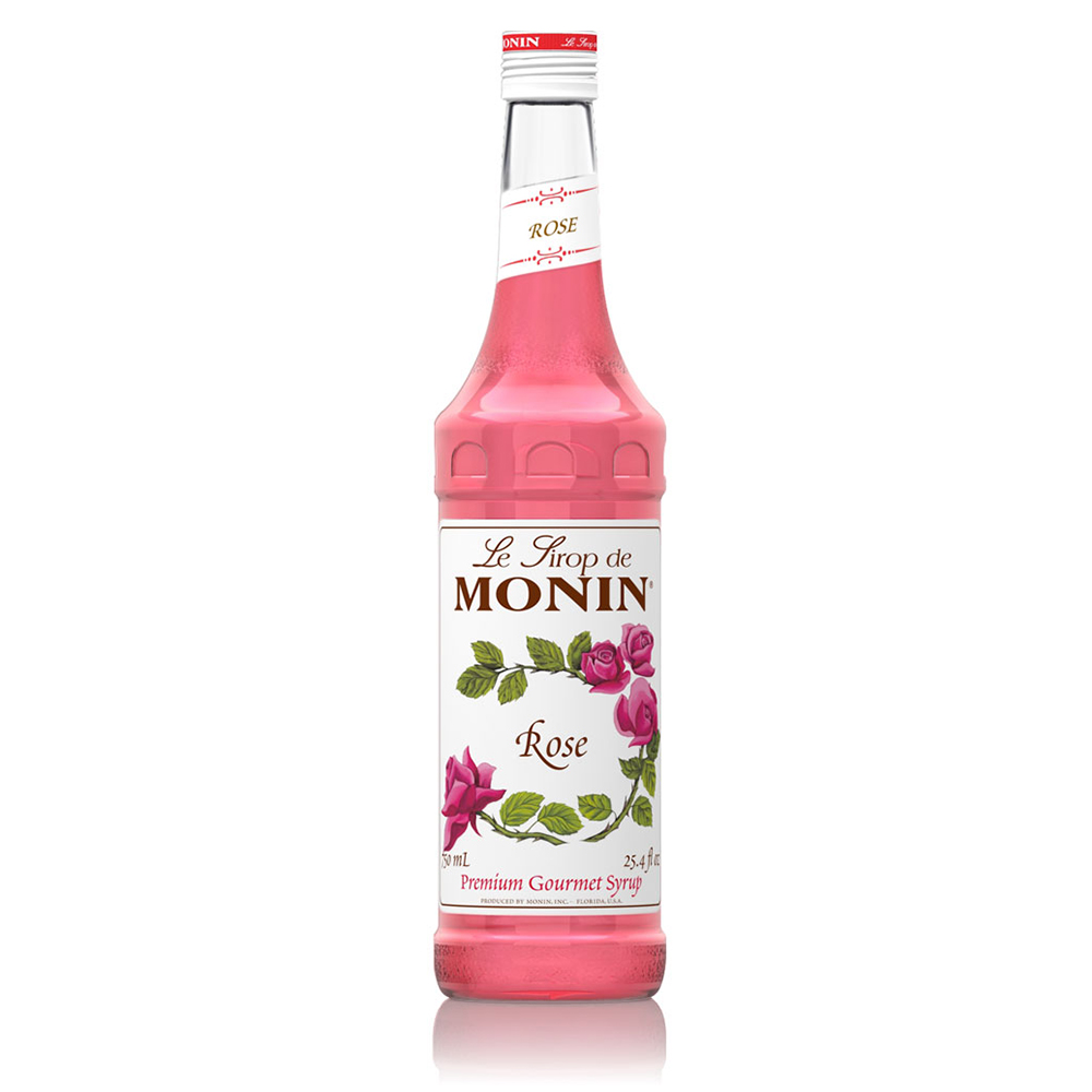 Monin Rose Coffee Syrup 700ml (Glass) (6 Units)