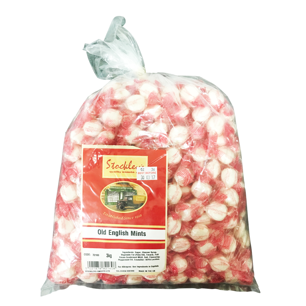 Tilleys Old English Mints Individually Wrapped 3kg Bag (1 Units)
