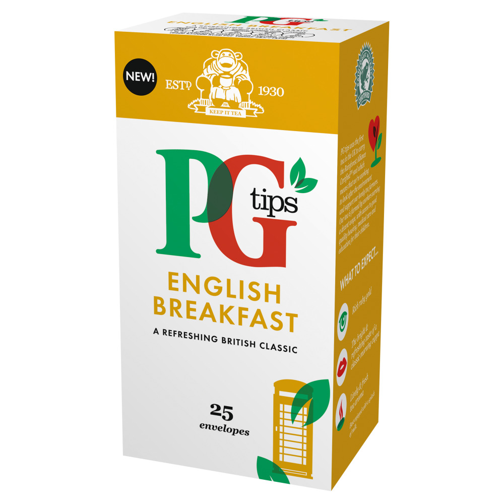 PG Tips English Breakfast 25's (6 Units)