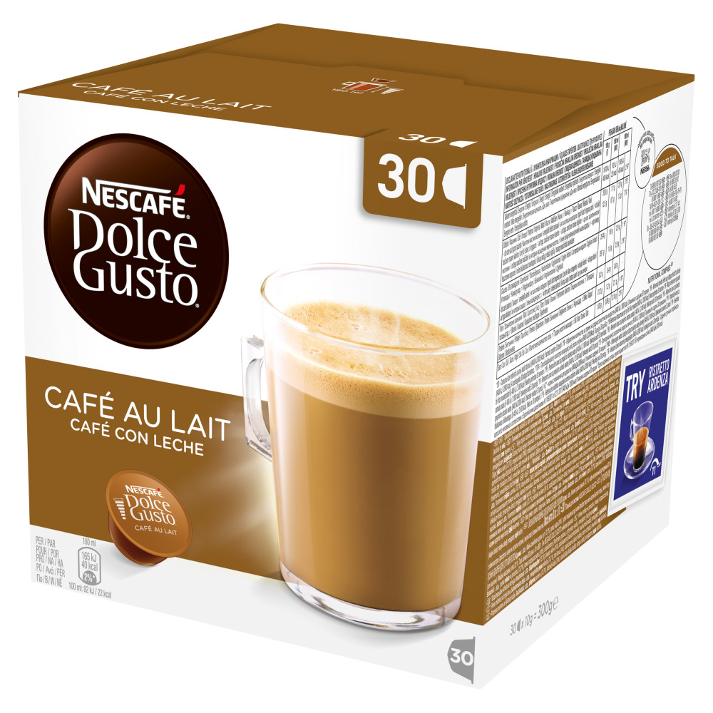 Dolce Gusto Cafe Au Lait Coffee Pods 30's (3 Units)