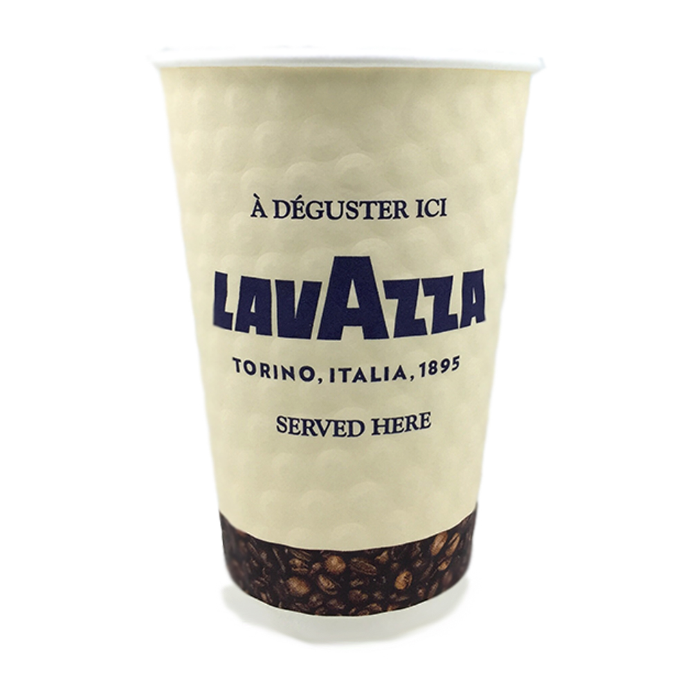 12oz Double Walled Embossed Lavazza Cups (50 Units)