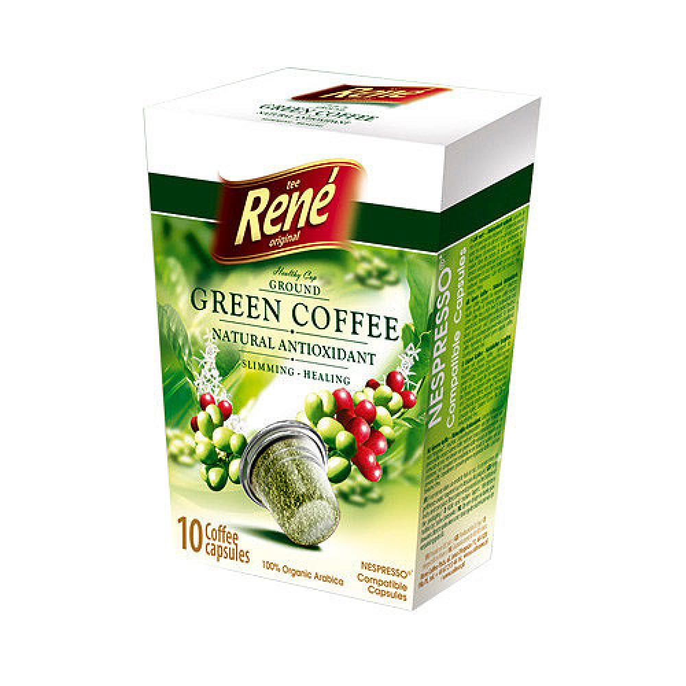 Cafe Rene Green Coffee 10's (Nespresso Compatible Pods) (10 Units)