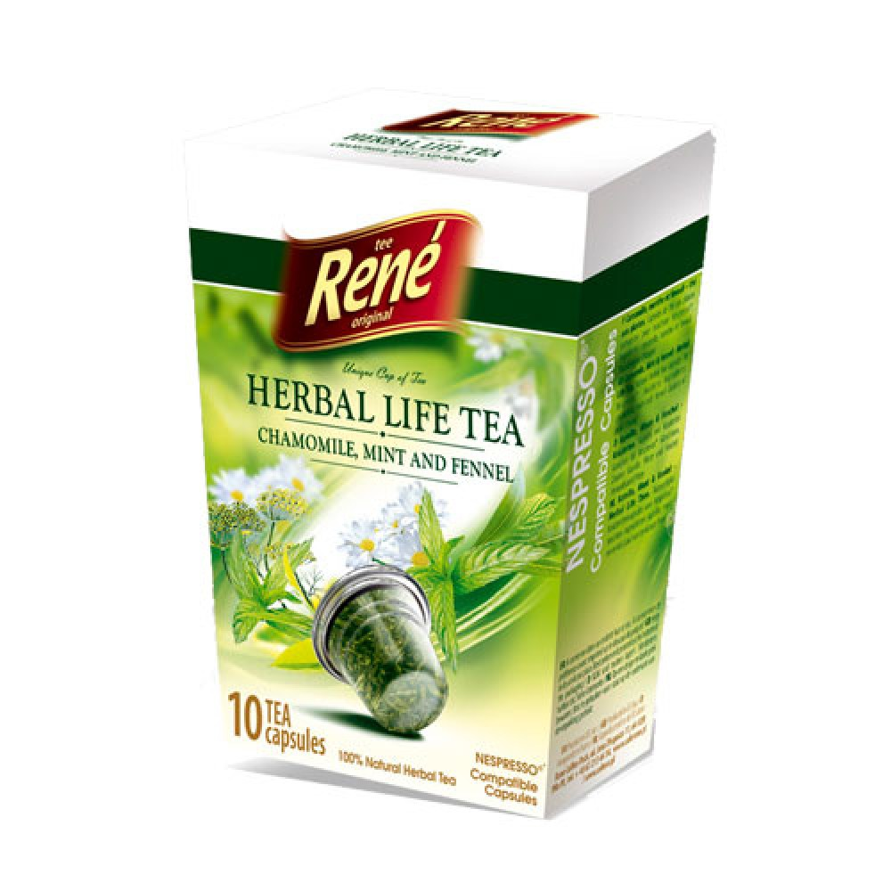 Cafe Rene Chamomile Mint & Fennel Tea 10's (Nespresso Compatible Pods) (1 Units)