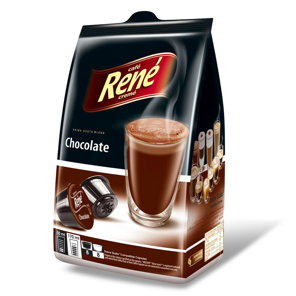 Cafe Rene Chocolate 16's (Dolce Gusto Compatible Pods) (1 Units)