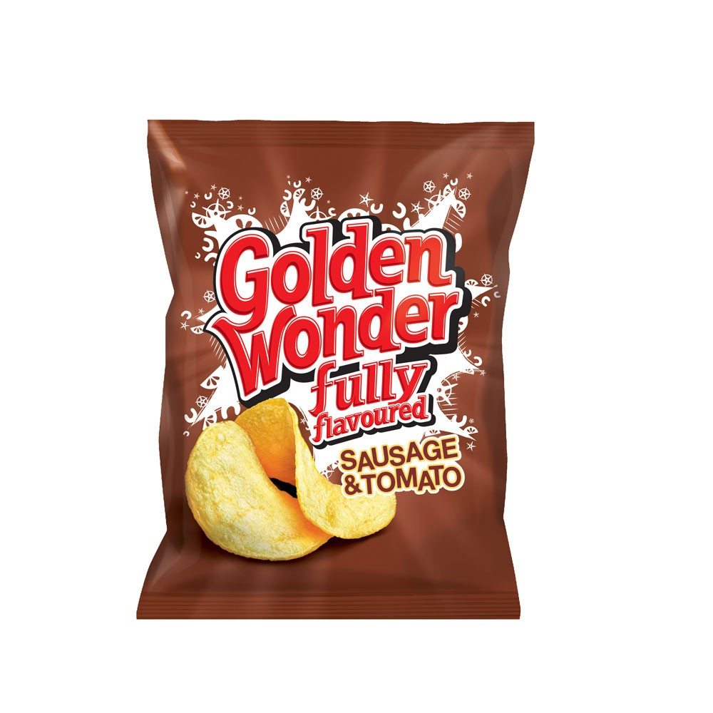 Golden Wonder Crisps Sausage & Tomato Pack 32's (1 Units)