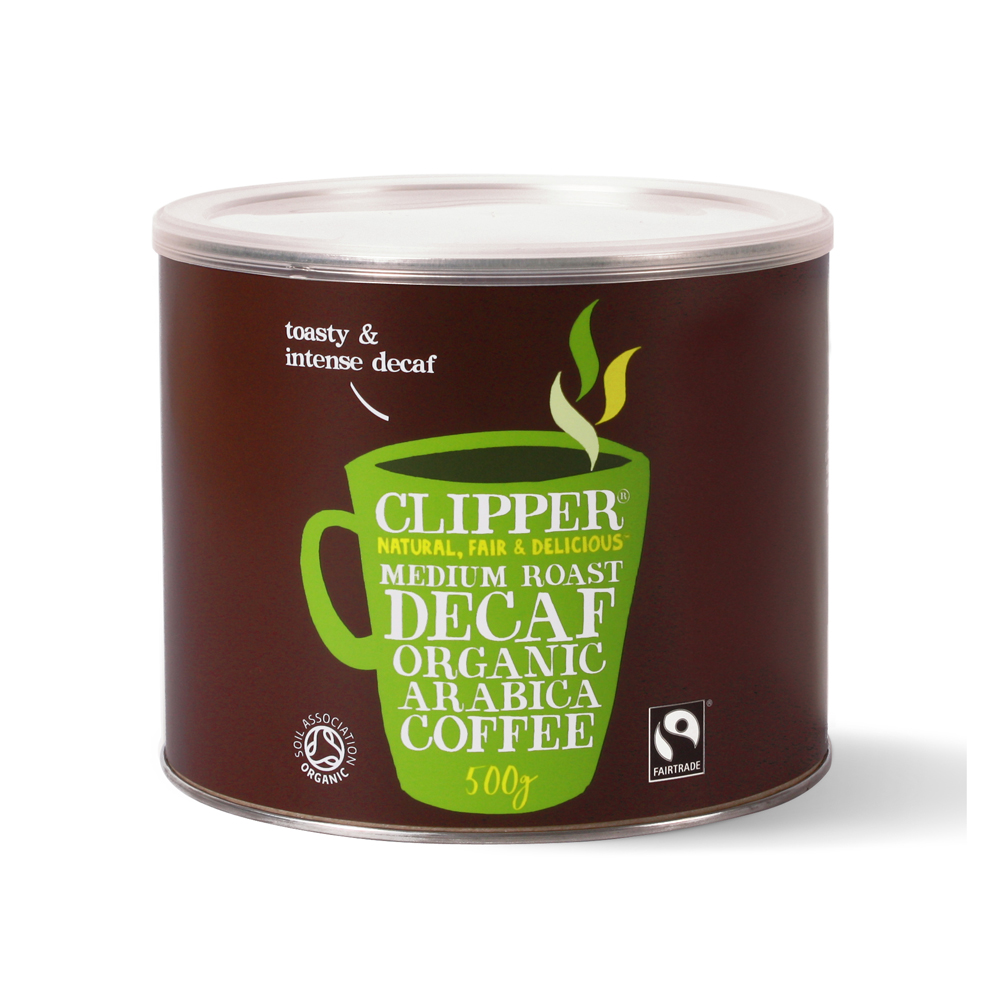 Clipper Fairtrade Medium Roast Decaf Organic Arabica Coffee 500g (1 Units)