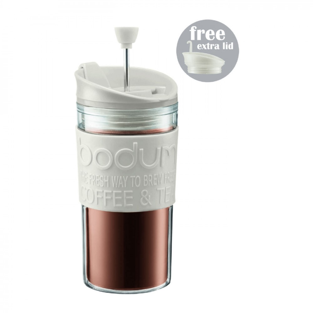 Bodum White Travel Press 0.35 Litre (Extra Lid) (1 Units)