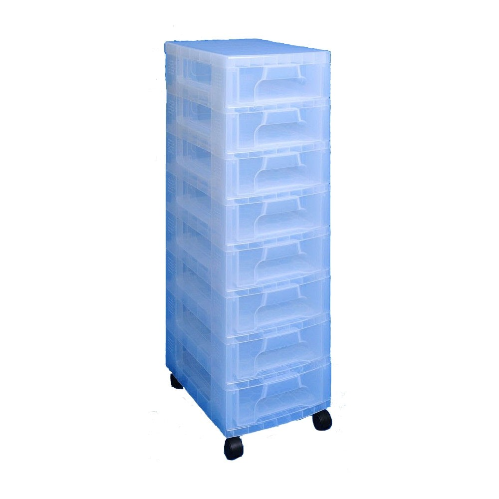 Really Useful Storage Boxes 8 x 7 Litre Clear Tower Clear Drawers (1 Units)