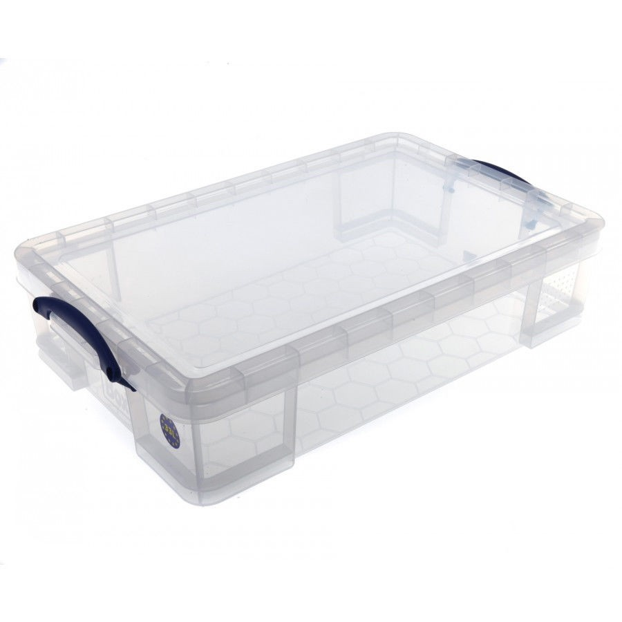Really Useful Clear Plastic Storage Box 33 Litre (1 Units)