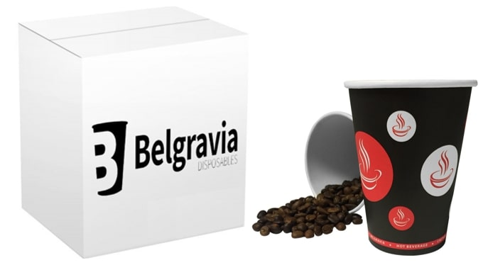 *NEW* 8oz Belgravia Red Tea & Coffee Paper Cups (50 Units)