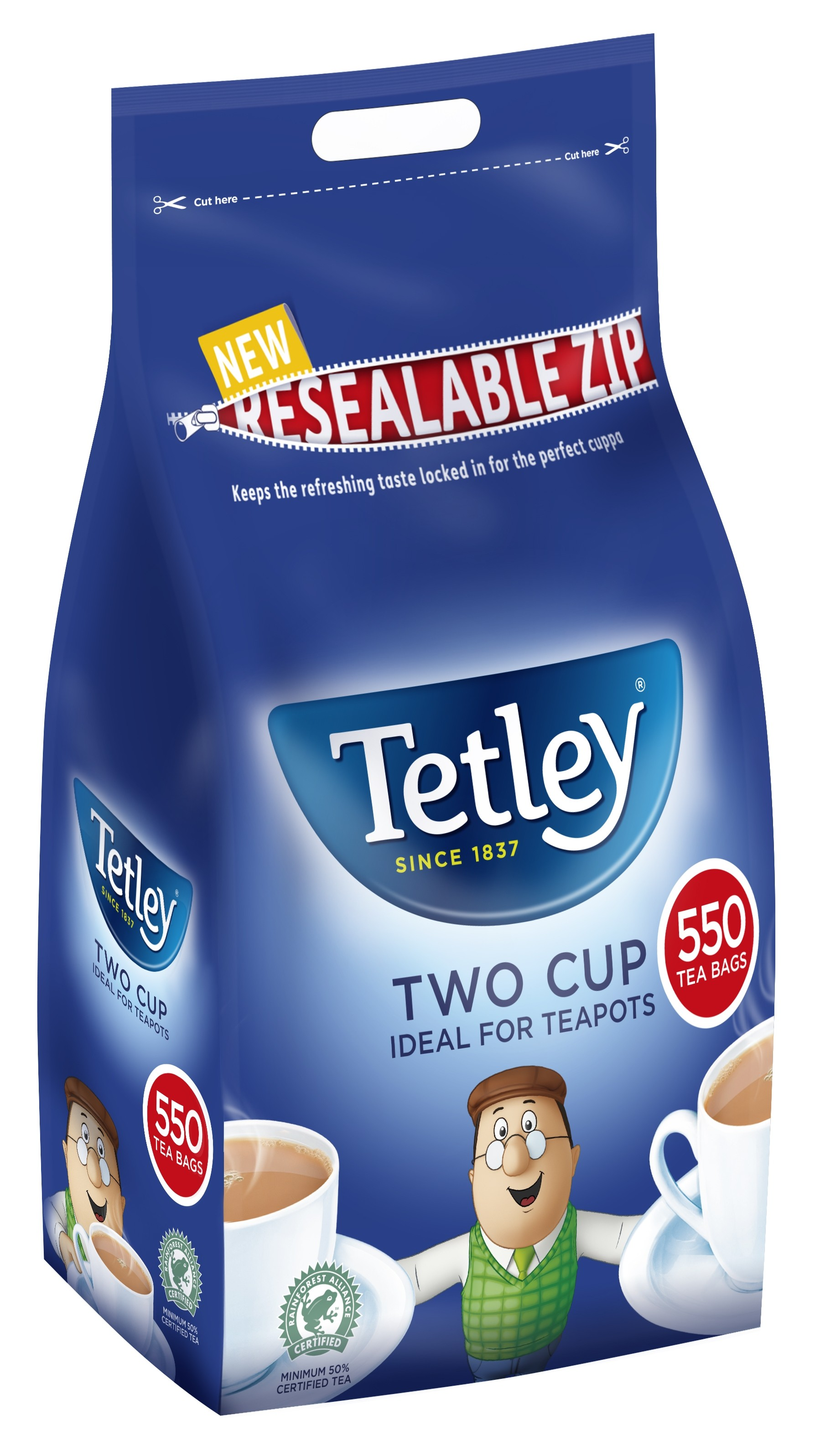 Tetley 2 Cup Teabags 550's (1 Units)