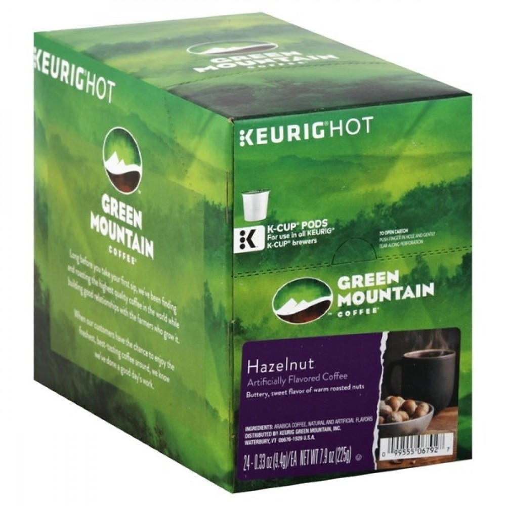 Keurig Green Mountain Coffee Hazelnut K-Cup Pods 24's (1 Units)