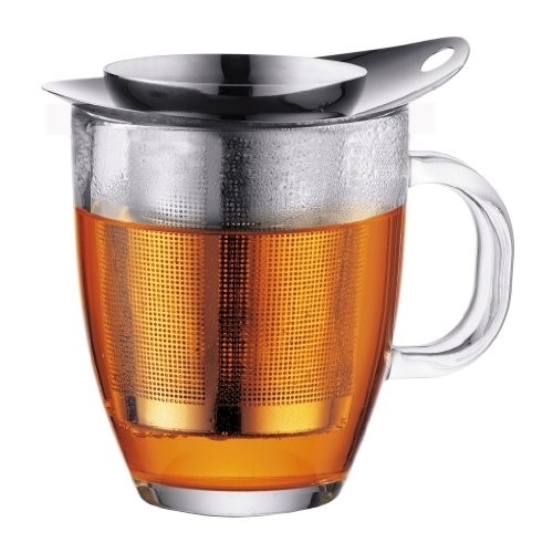 Bodum New Yo-Yo Shiny Mug & Tea Strainer 0.35 Litre (1 Units)