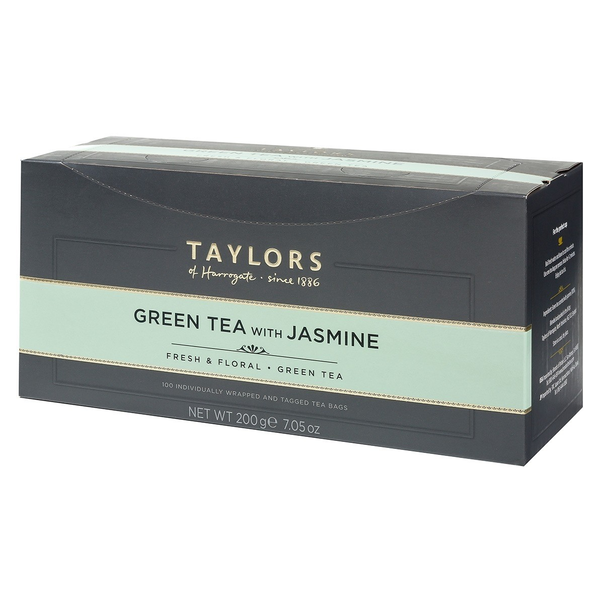 Taylors of Harrogate Green Tea w/Jasmin Enveloped Tea Pack 100's (1 Units)