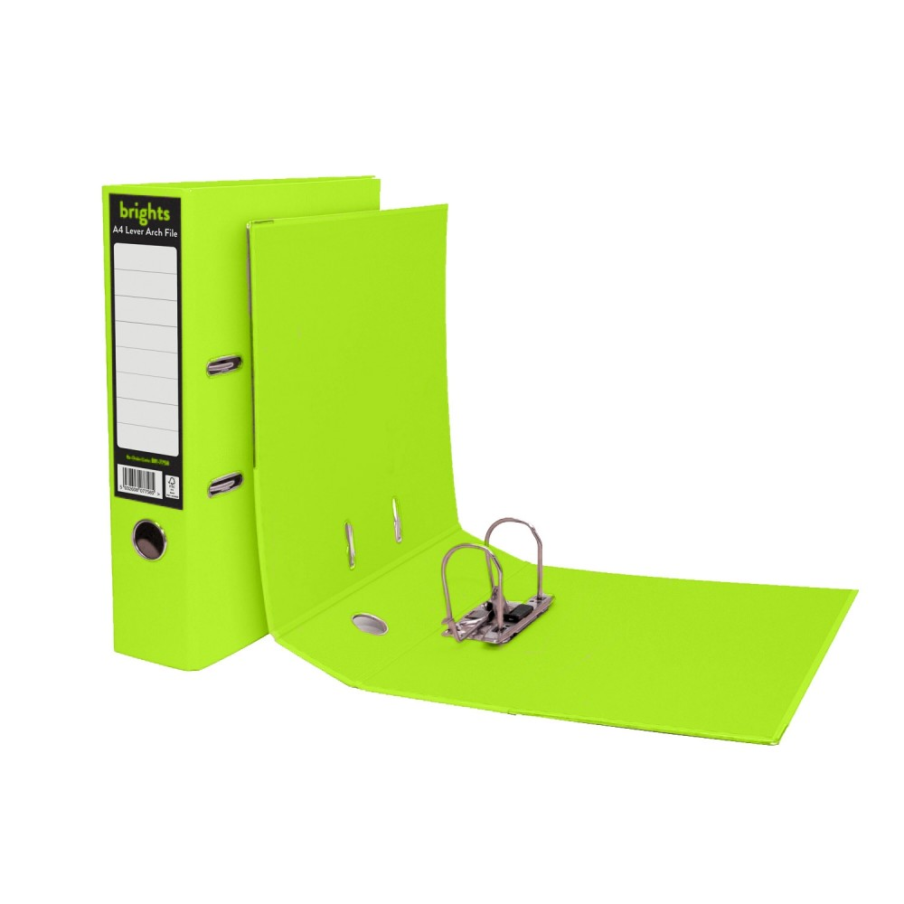 Brights Lever Arch A4 Green (1 Units)