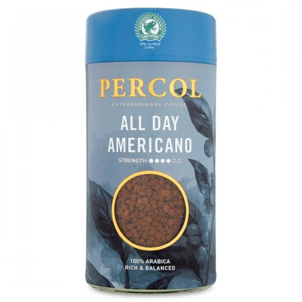 Percol All Day Americano Instant Coffee 100g (6 Units)