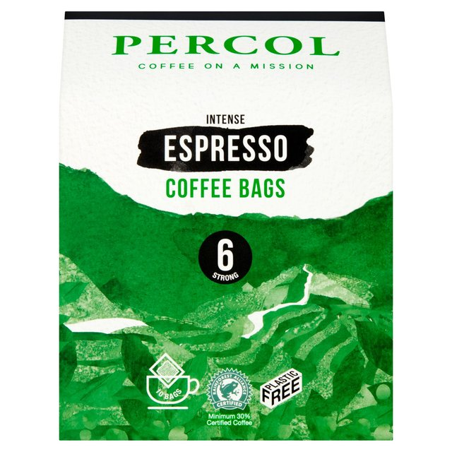 Percol Espresso Coffee Bags 8g Pack 10s (1 Units)