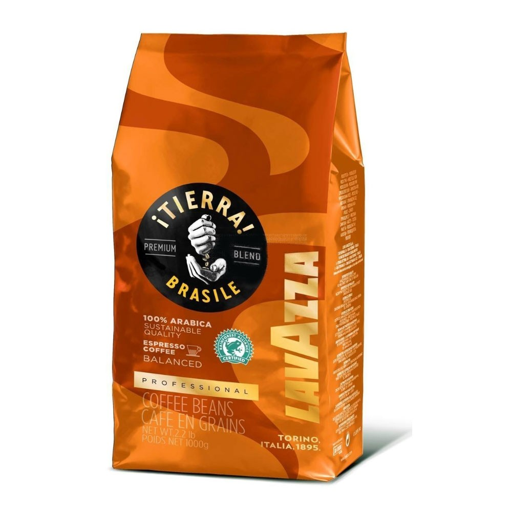 Lavazza Tierra Origins Brasil Coffee Beans 1kg (Orange) (1 Units)