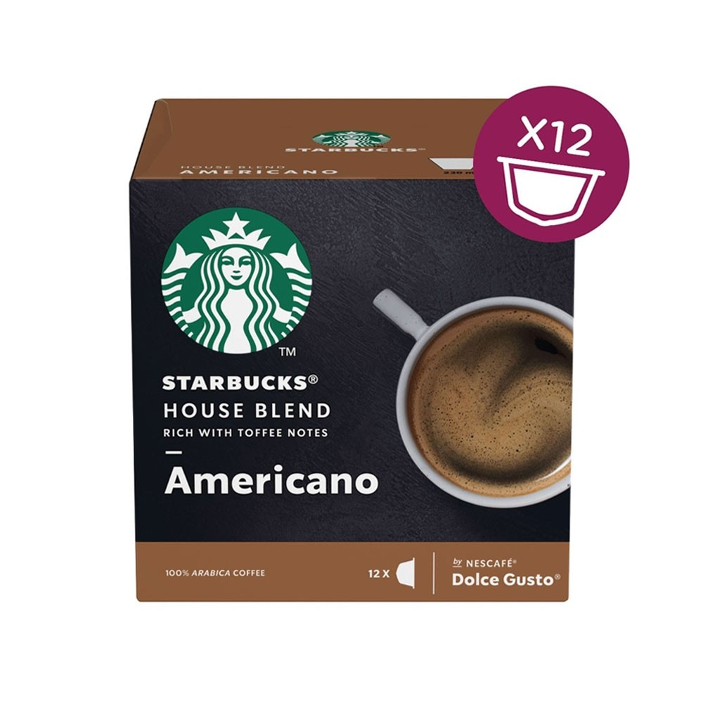 Dolce Gusto Starbucks Americano House Blend 12's (3 Units)