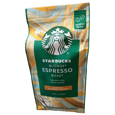 Starbucks Blonde Espresso Roast Coffee Beans 200g (6 Units)