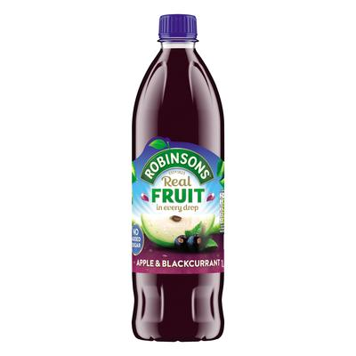 Robinsons (No Added Sugar) Apple & Blackcurrant 1litre (12 Units)