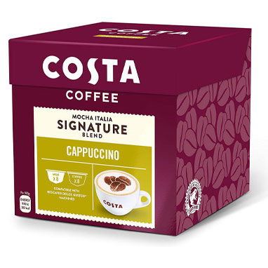 Costa Coffee Cappuccino 16's (Dolce Gusto Compatible Pods) (3 Units)