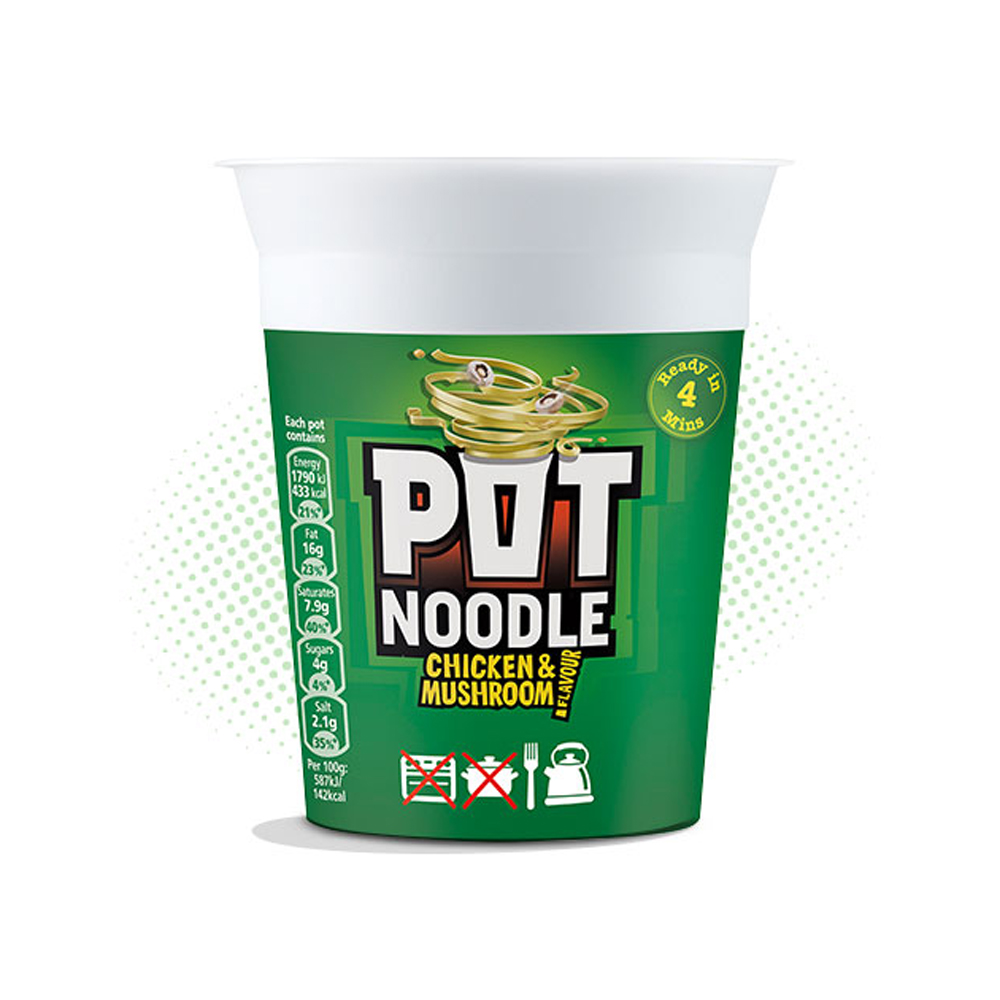 Pot Noodle Chicken & Mushroom 12x90g (1 Units)