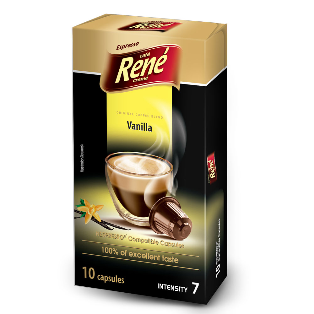 Cafe Rene Vanilla 10's (Nespresso Compatible Pods) (1 Units)