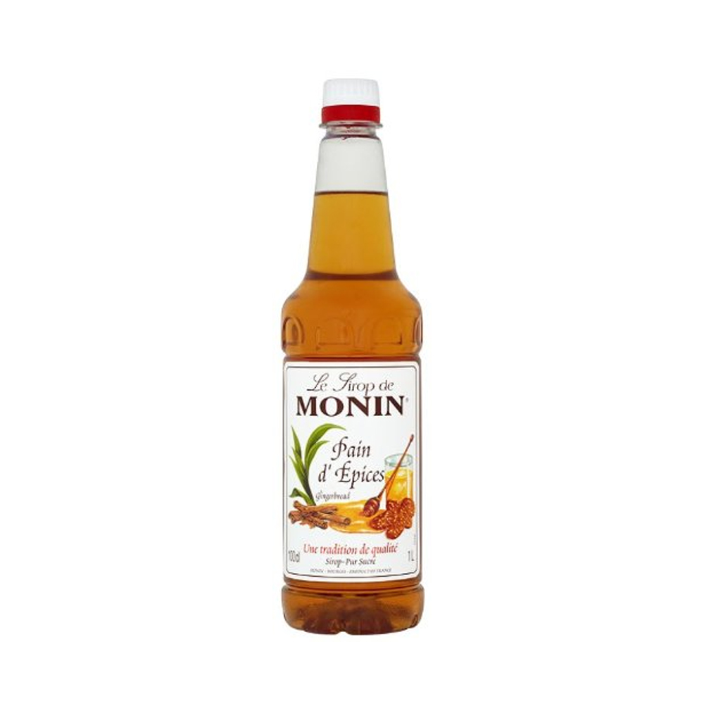 Monin Gingerbread Coffee Syrup 1litre (Plastic) (4 Units)