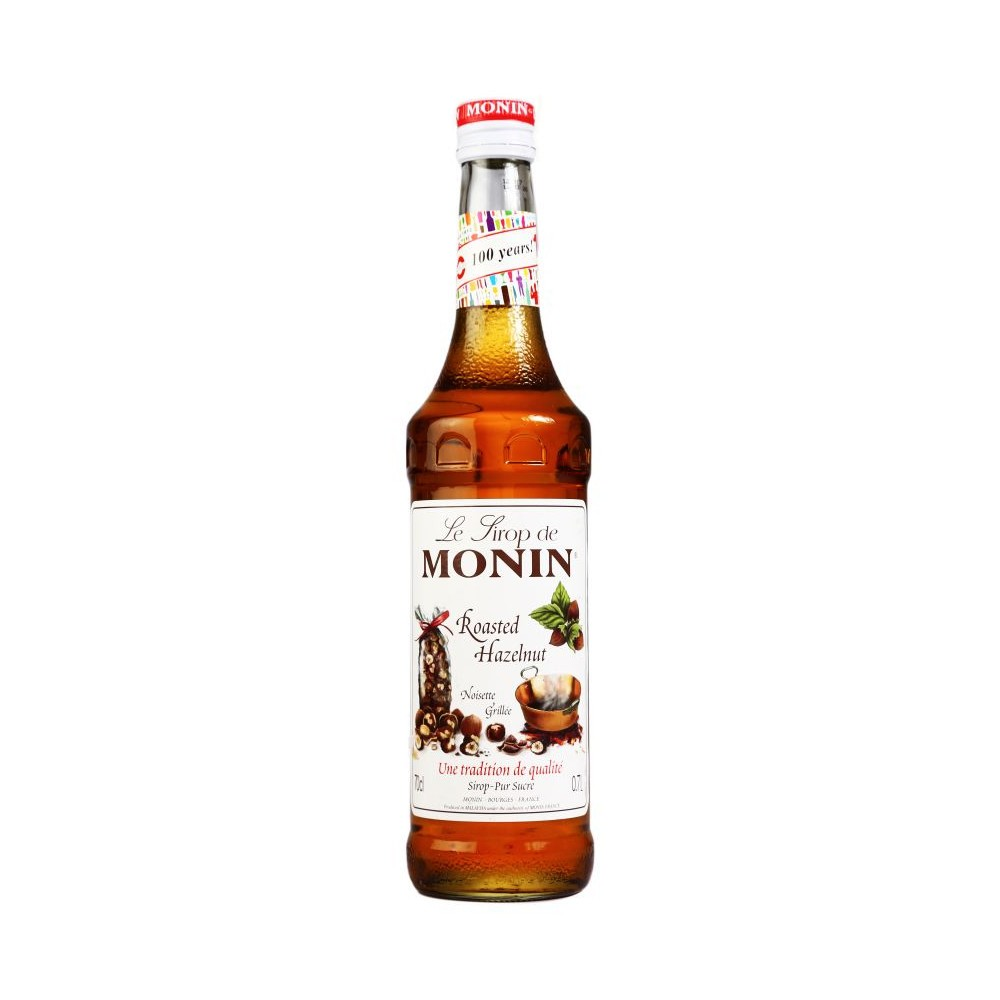 Monin Roasted Hazelnut Coffee Syrup 1litre (Plastic) (4 Units)