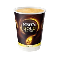 Nescafe & Go Gold Blend White Cups (Sleeve of 8) (12 Units)